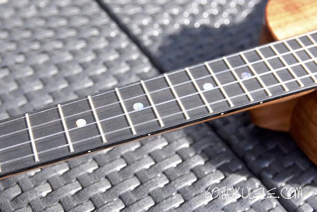 Koaloha KTM-00 Tenor Ukulele fingerboard