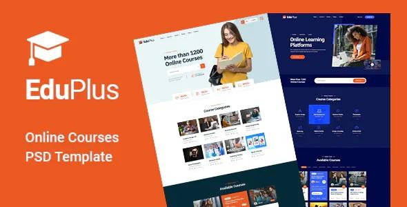Best Online Courses PSD Template
