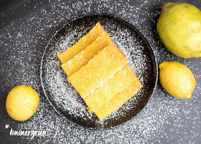 Saftige Zitronenkuchenstreifen, Zitronenkuchen, Lemon Bars