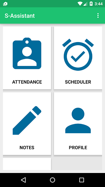 Main Activity of Android App for Teachers