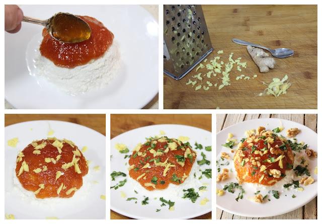 dip requeson mermelada tomate nueces tierra palaciega