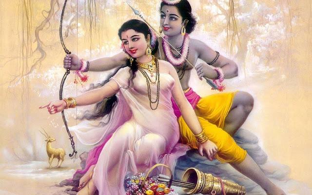 Best God Ram & Sita Painting  Wallpaper
