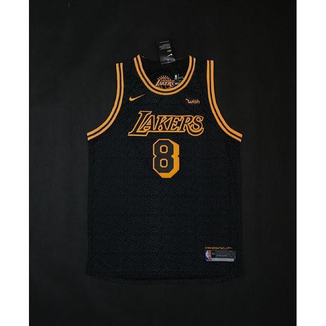 Áo bóng rổ Lakers màu đen cực chất