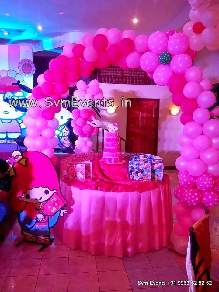 Hello Kitty theme decorations By Svm Events & Svm Events : Hello Kitty theme decorations By Svm Events