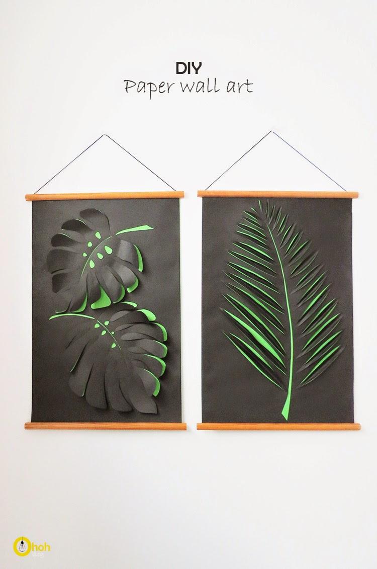 DIY paper wall art - Ohoh Blog