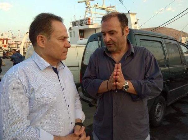 Επίσκεψη Νίκου Μανωλάκου στην Ιχθυόσκαλα (ΦΩΤΟ)