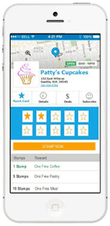 CTownSaver's mobile punch card loyalty program software from a customers phone app view.