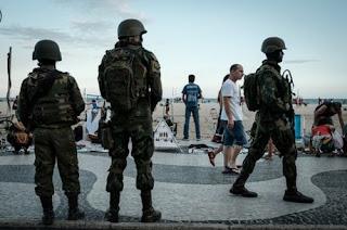 soldats mobilisés à Rio