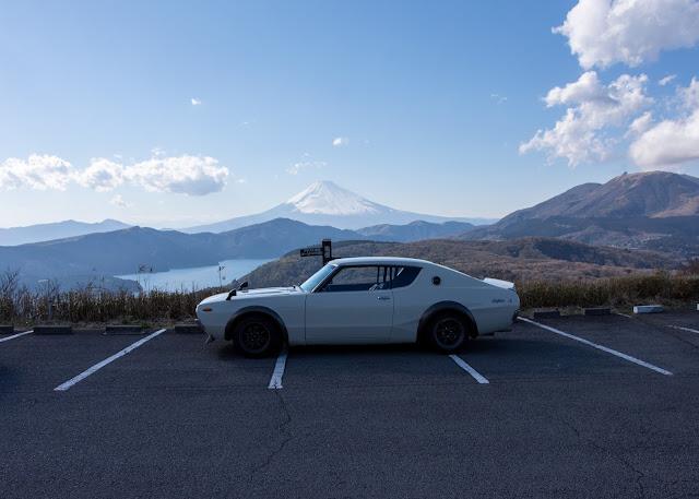 Nissan C110 Kenmeri Skyline Mt Fuji