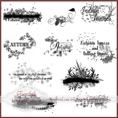 ~~ 10 autumn word art