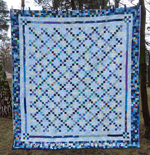 Irish Chain Fancy Quilt Designed by Becky Tillman of Quilted Twins