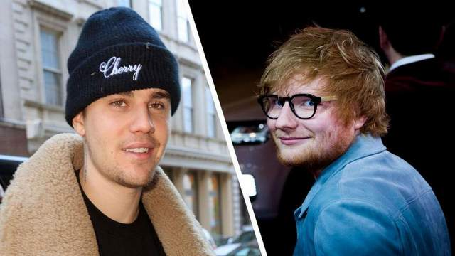 Ed Sheeran dan justin biebers
