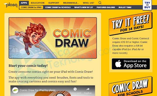 Daftar Aplikasi Pembuat Komik Terbaik Untuk PC Yang Mudah Digunakan, Aplikasi Pembuat Komik untuk pemula, aplikasi pembuat komik untuk ipad