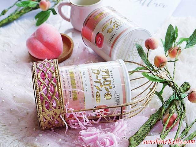 FINE Japan Hyaluron and Collagen White, Fine Japan, Hyaluron and Collagen White, Peach Flavor, Collagen Drink, Cason Trading, Tokyoninki, Beauty Supplement, Beauty