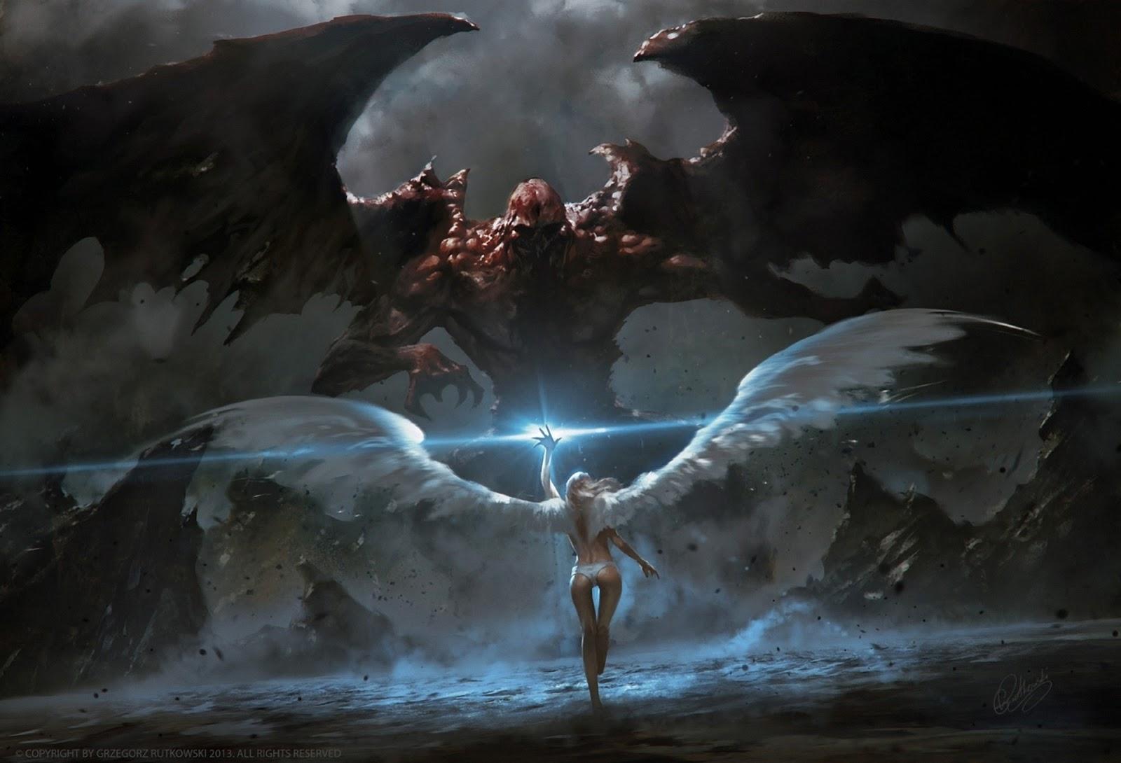 imágenes de ángeles y demonios mujer blanca luz