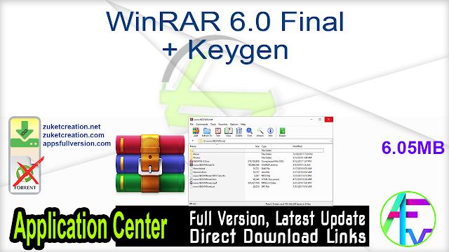 WinRAR 6.0 Final + Keygen