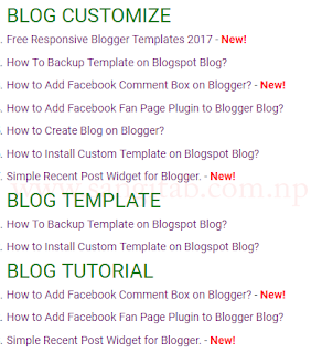 How to Add HTML Sitemap Page in Blogger?