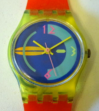 1980s multi-coloured Swatch Watch