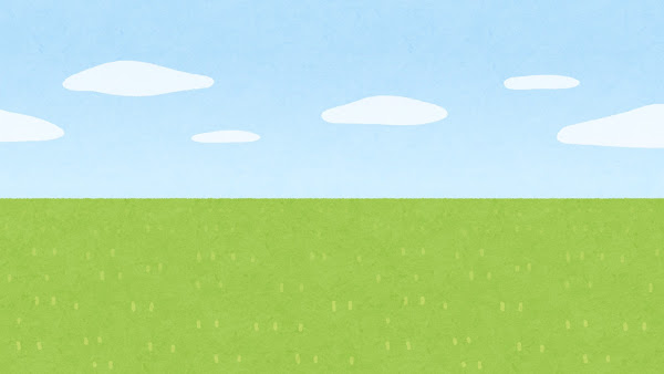 地平線のイラスト(草原・背景素材)