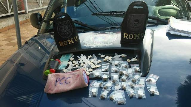 ROMU e ROMO de Santo André apreende menor por tráfico de drogas na favela do Cristiane