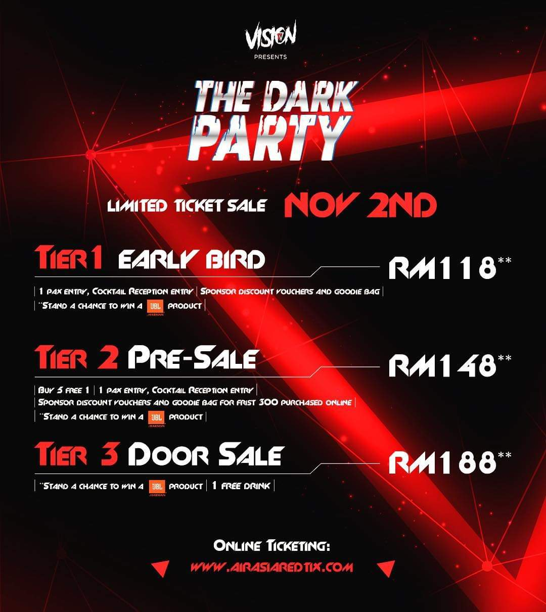 PESTA, THE DARK PARTY KL, HALLOWEEN, PESTA MUZIK,