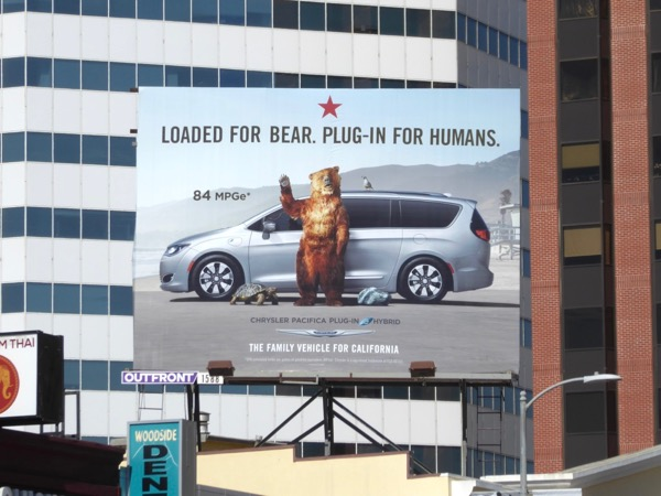 Chrysler Pacifica Loaded bear billboard