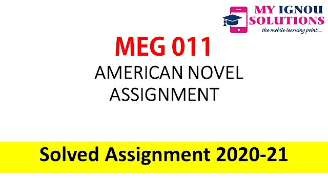 MEG 11 AMERICAN NOVEL ASSIGNMENT  Solved Assignment 2020-21