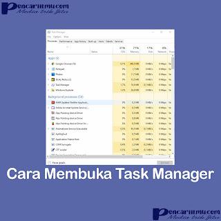 Cara Membuka Task Manager