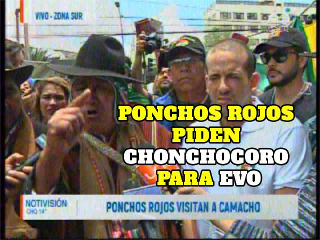 Ponchos Rojos piden cárcel de 30 años en Chonchocoro para Evo Morales