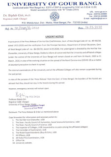 notice for college