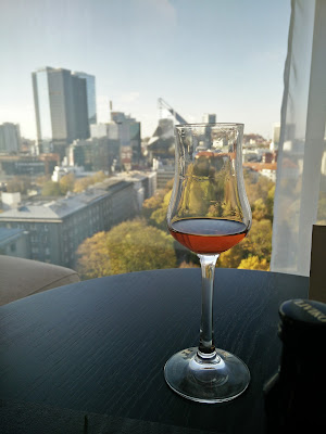 Hilton Tallinn Park, drink and view from 10th floor