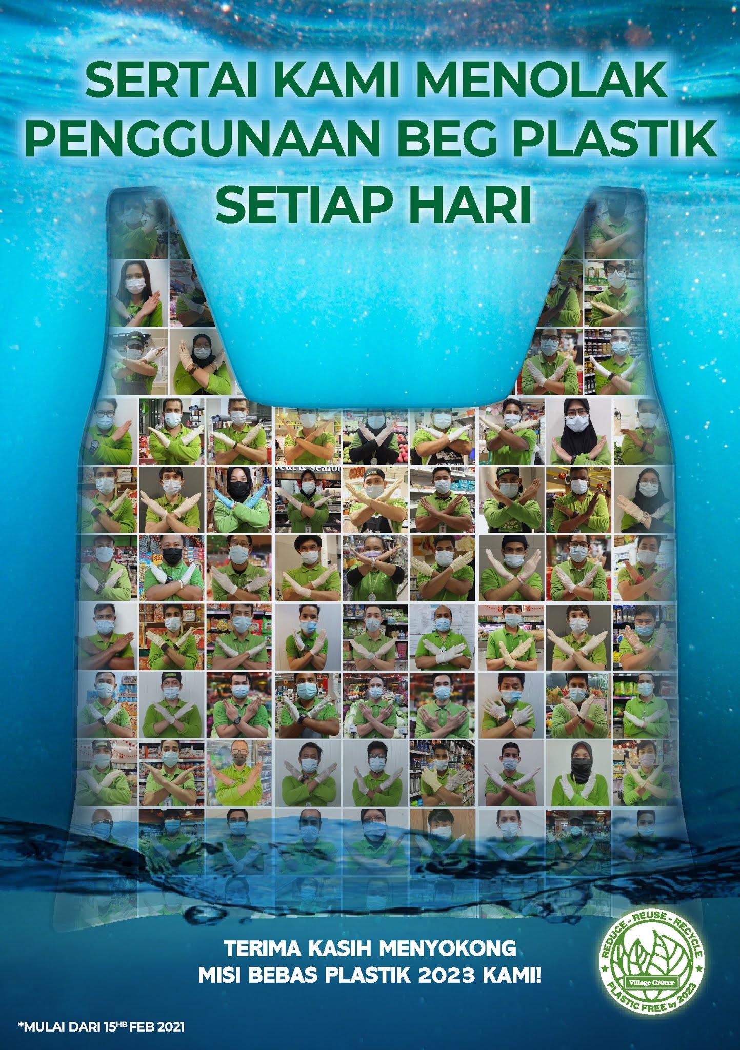 Tiada Lagi Bag Plastik Setiap Hari Di Village Grocer
