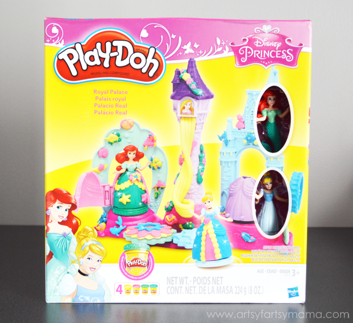 Play-Doh Disney Princess Playset with Free Printable Disney Princess Gift Tags at artsyfartsymama.com