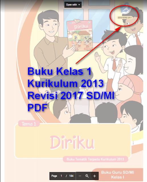 Buku Kelas 1 Kurikulum 2013 Revisi 2017 SD/MI PDF