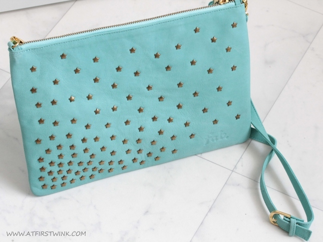 Fab. Suzy bag star stud - aqua