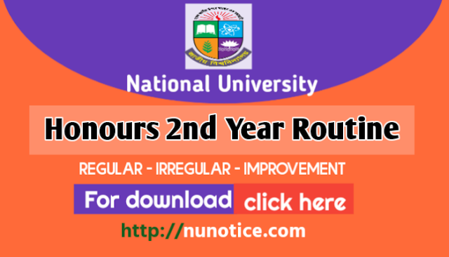 Nu honours 2nd year routine 2019