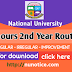 NU honourse 2nd year exam routine 2019