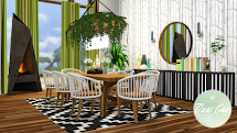 Simsational Design Oasis-chic Dining - Outdoor Furniture Set