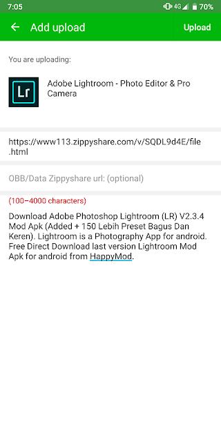 Cara Upload Mod Di Aplikasi HappyMod