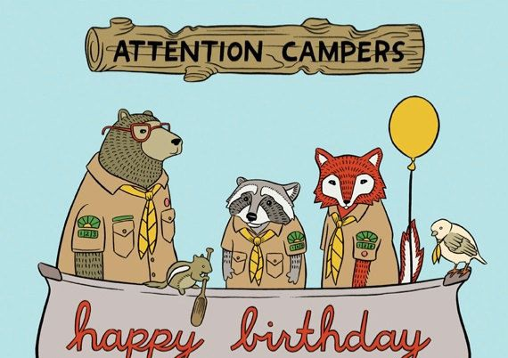 Birthday Wishes for Campers - Happy Birthday Camper Girl