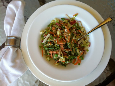 Southern Spoon blog: crispy cabbage and sugar snap salad with sesame dressing