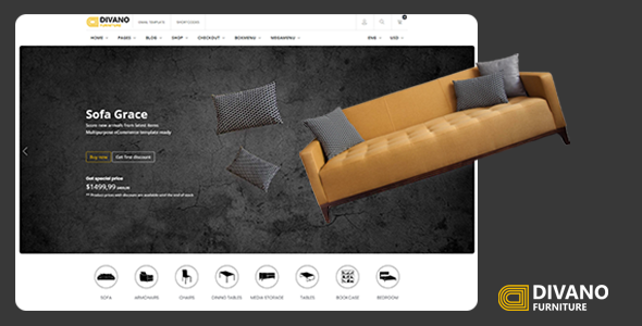Divano - Furniture Store Website Template