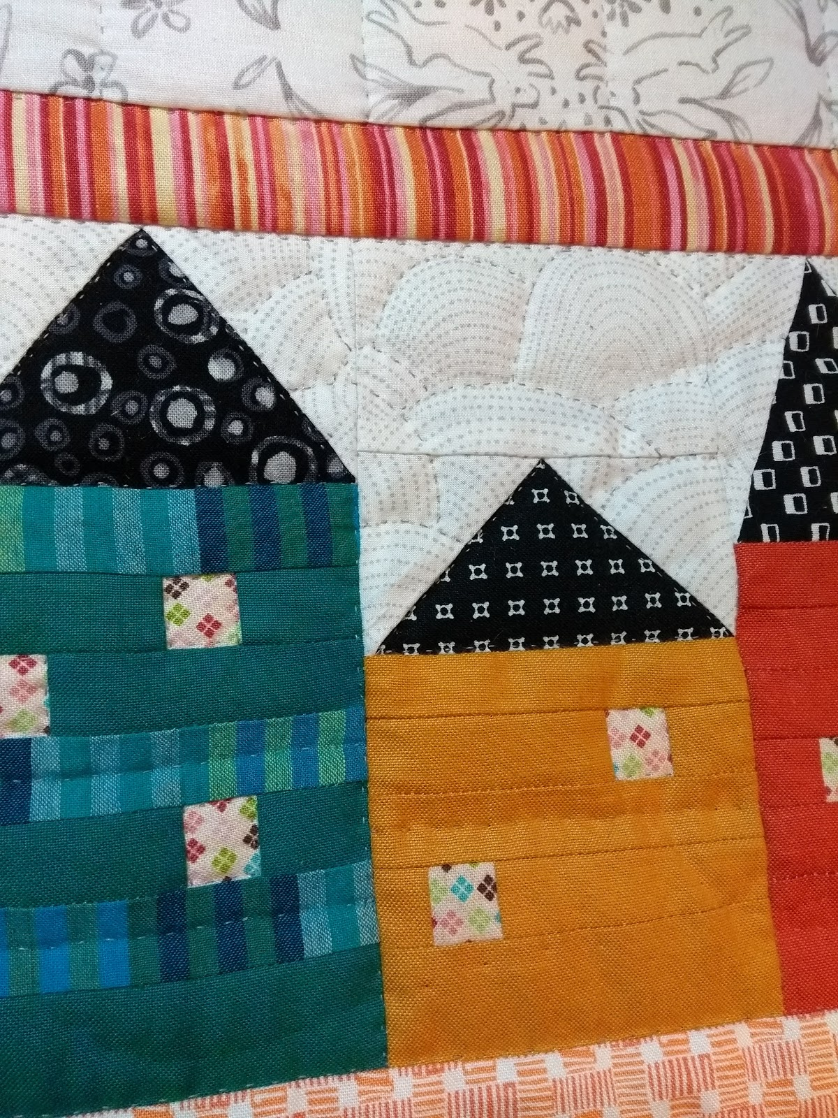 Quilting at the Cro s Nest Down the Rabbit Hole a real quilt
