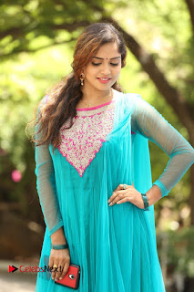 Actress Karunya Pictures in Salwar Kameez at Kannullo Nee Roopame Movie Opening  0059