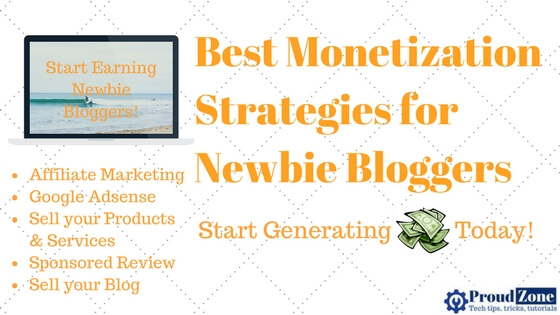Best Monetization Strategies for Newbie Bloggers