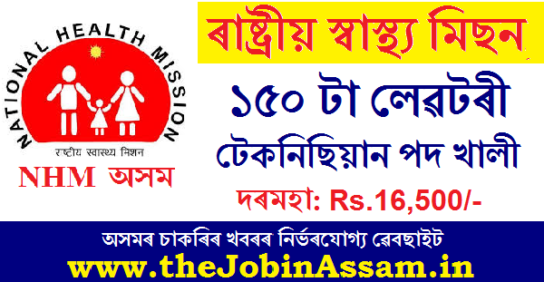 NHM Assam Recruitment 2020: