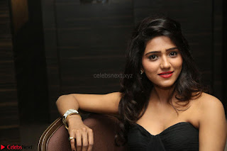 Shalu Chourasiya in spicy Sleeveless Strapless Black Top at O Pilla Nee Valla Movie Audio Launch Feb 2017 009.JPG