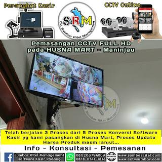 Pemasangan CCTV HUSNA MART di Maninjau
