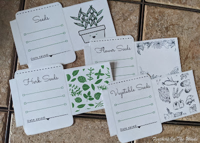Seed packets cut out from printer paper
