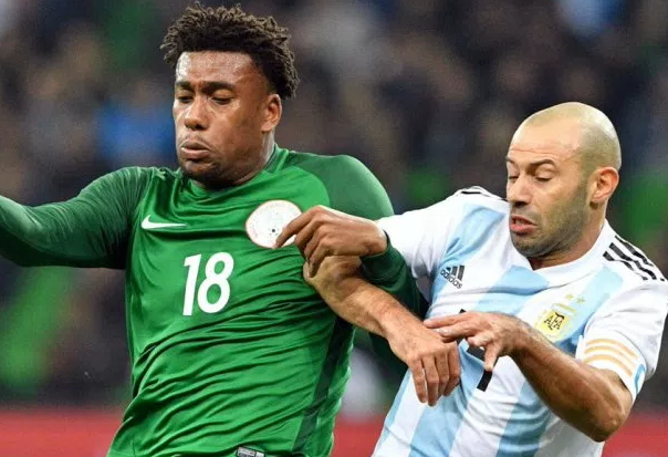 nigeria beats argentina friendly match russia
